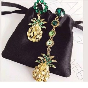 Jewelry - Pineapple Rhinestone Crystal Statement Earrings